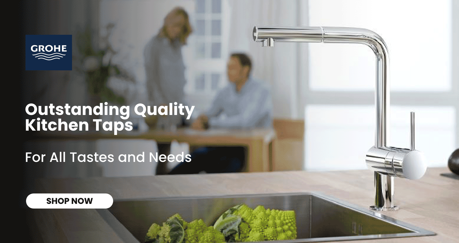Discover GROHE Kitchen Taps at xTWOstore