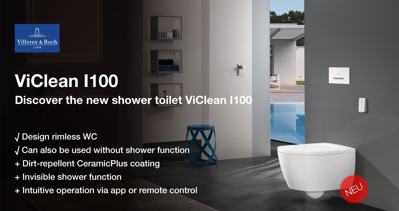 Villeroy & Boch ViClean shower wc