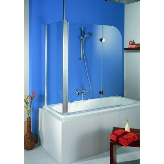 HSK Exklusiv - Seitenwand zum Badewannenaufsatz 41 chromoptik Sonderanfertigung 100 Glasmattierung