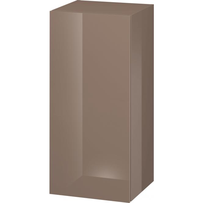 Duravit L-Cube - Halbhochschrank 500 x 900 x 363 mm mit 1 Tür & 2 Glasfachböden & Anschlag rechts cappuccino hochglanz
