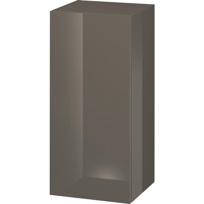 Duravit L-Cube - Halbhochschrank 500 x 900 x 363 mm mit 1 Tür & 2 Glasfachböden & Anschlag rechts flannel grey hochglanz