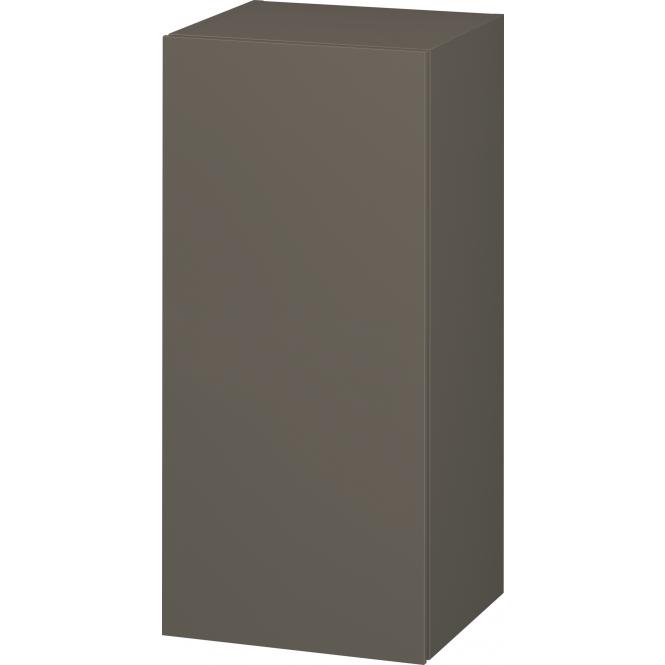 Duravit L-Cube - Halbhochschrank 500 x 900 x 363 mm mit 1 Tür & 2 Glasfachböden & Anschlag rechts flannel grey seidenmatt