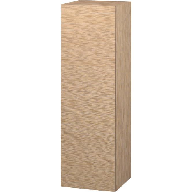 Duravit L-Cube - Halbhochschrank 500 x 1320 x 363 mm mit 1 Tür, 1 Holzfachboden, 2 Glasfachböden & Anschlag links eiche gebürstet