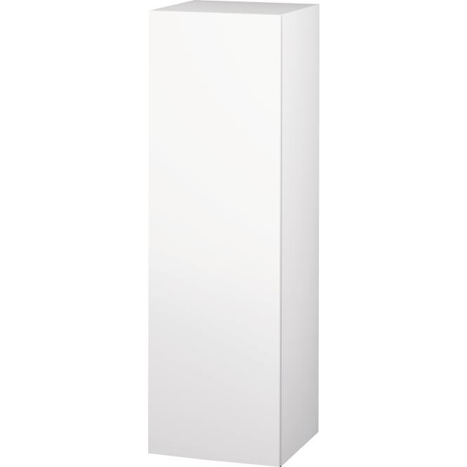 Duravit L-Cube - Halbhochschrank 500 x 1320 x 363 mm mit 1 Tür, 1 Holzfachboden, 2 Glasfachböden & Anschlag links weiß matt