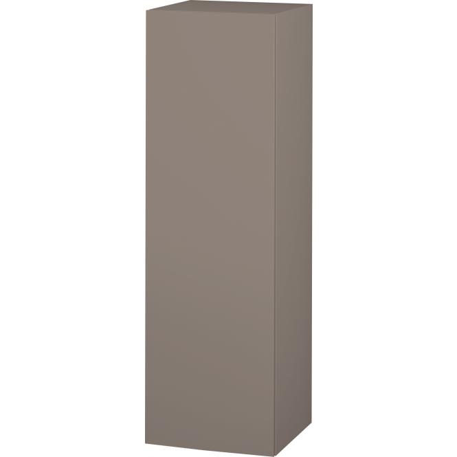 Duravit L-Cube - Halbhochschrank 500 x 1320 x 363 mm mit 1 Tür, 1 Holzfachboden, 2 Glasfachböden & Anschlag links basalt matt