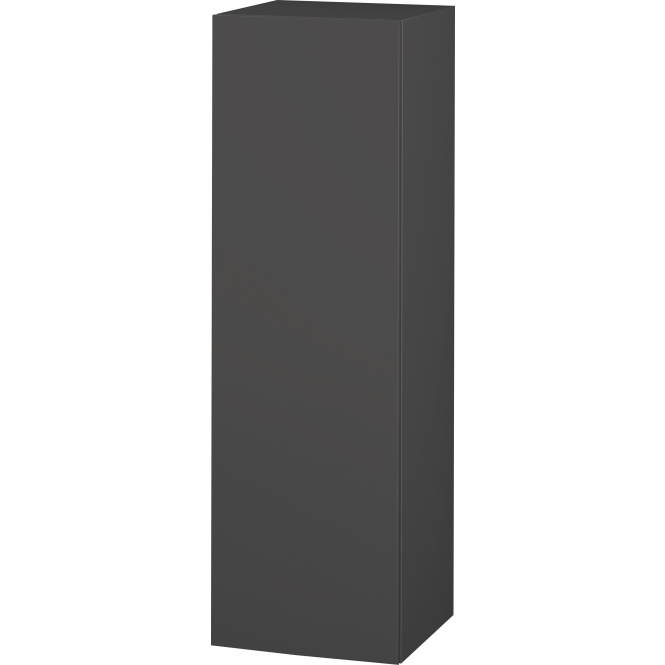 Duravit L-Cube - Halbhochschrank 500 x 1320 x 363 mm mit 1 Tür, 1 Holzfachboden, 2 Glasfachböden & Anschlag links graphit matt