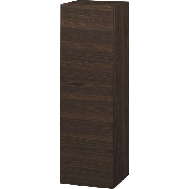 Duravit L-Cube - Halbhochschrank 500 x 1320 x 363 mm mit 1 Tür, 1 Holzfachboden, 2 Glasfachböden & Anschlag links nussbaum gebürstet
