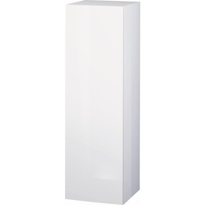 Duravit L-Cube - Halbhochschrank 500 x 1320 x 363 mm mit 1 Tür, 1 Holzfachboden, 2 Glasfachböden & Anschlag links weiß hochglanz