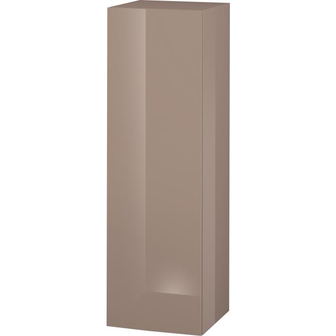 Duravit L-Cube - Halbhochschrank 500 x 1320 x 363 mm mit 1 Tür, 1 Holzfachboden, 2 Glasfachböden & Anschlag links cappuccino hochglanz