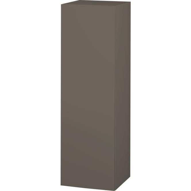 Duravit L-Cube - Halbhochschrank 500 x 1320 x 363 mm mit 1 Tür, 1 Holzfachboden, 2 Glasfachböden & Anschlag links flannel grey seidenmatt
