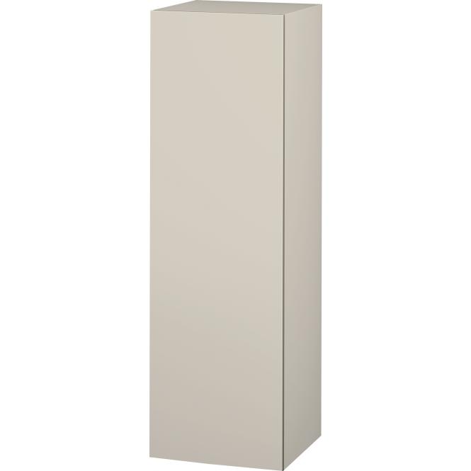 Duravit L-Cube - Halbhochschrank 500 x 1320 x 363 mm mit 1 Tür, 1 Holzfachboden, 2 Glasfachböden & Anschlag links taupe
