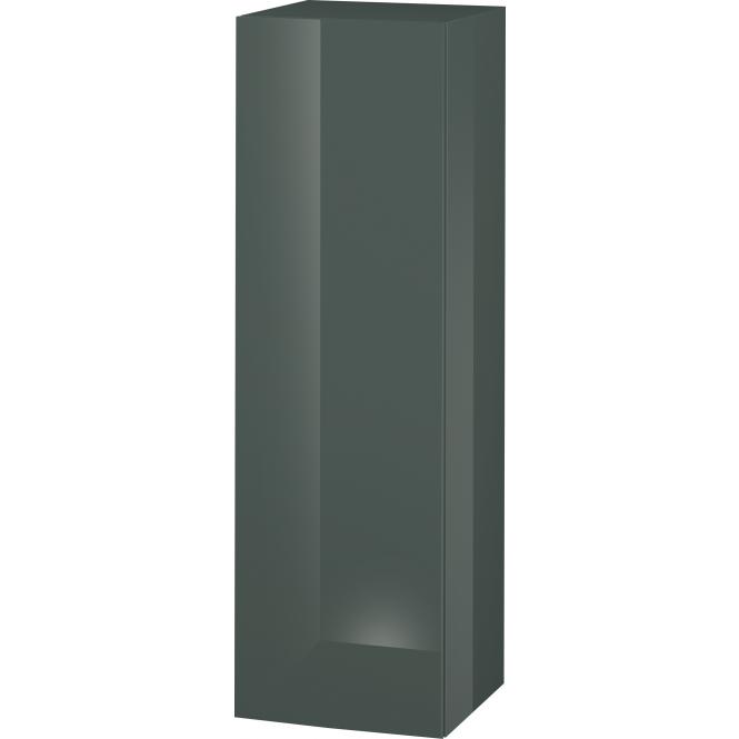 Duravit L-Cube - Halbhochschrank 500 x 1320 x 363 mm mit 1 Tür, 1 Holzfachboden, 2 Glasfachböden & Anschlag rechts dolomiti grey hochglanz