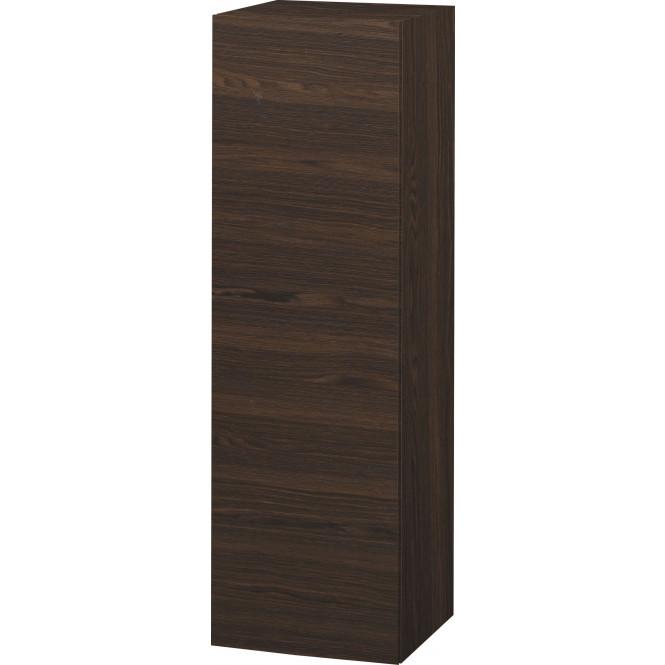Duravit L-Cube - Halbhochschrank 500 x 1320 x 363 mm mit 1 Tür, 1 Holzfachboden, 2 Glasfachböden & Anschlag rechts nussbaum gebürstet