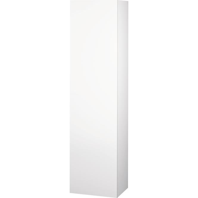 Duravit L-Cube - Halbhochschrank 500 x 2000 x 363 mm mit 1 Tür, 1 Holzfachboden, 3 Glasfachböden & Anschlag links weiß matt