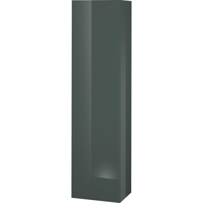 Duravit L-Cube - Halbhochschrank 500 x 2000 x 363 mm mit 1 Tür, 1 Holzfachboden, 3 Glasfachböden & Anschlag links dolomiti grey hochglanz