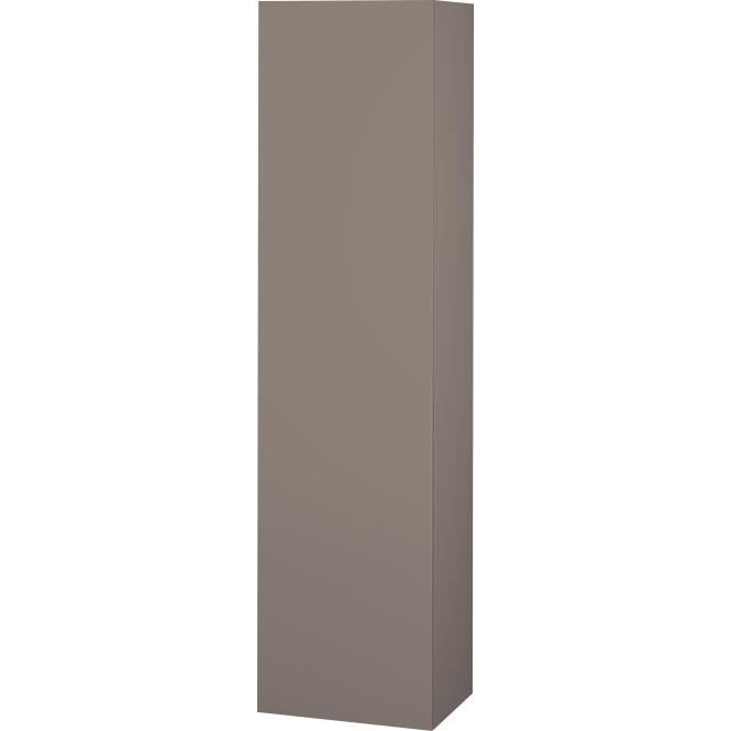 Duravit L-Cube - Halbhochschrank 500 x 2000 x 363 mm mit 1 Tür, 1 Holzfachboden, 3 Glasfachböden & Anschlag links basalt matt