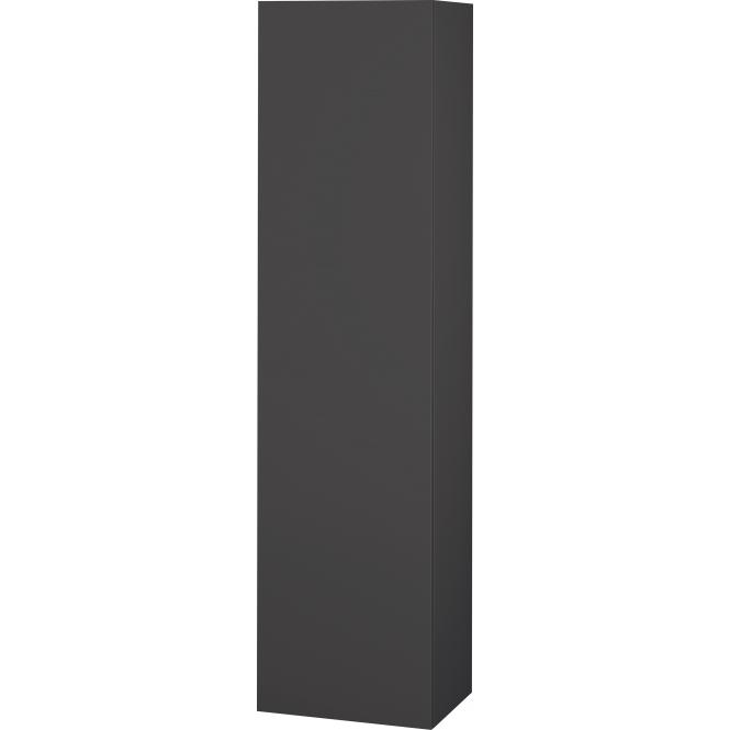 Duravit L-Cube - Halbhochschrank 500 x 2000 x 363 mm mit 1 Tür, 1 Holzfachboden, 3 Glasfachböden & Anschlag links graphit matt