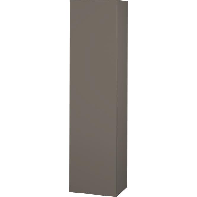 Duravit L-Cube - Halbhochschrank 500 x 2000 x 363 mm mit 1 Tür, 1 Holzfachboden, 3 Glasfachböden & Anschlag links flannel grey seidenmatt