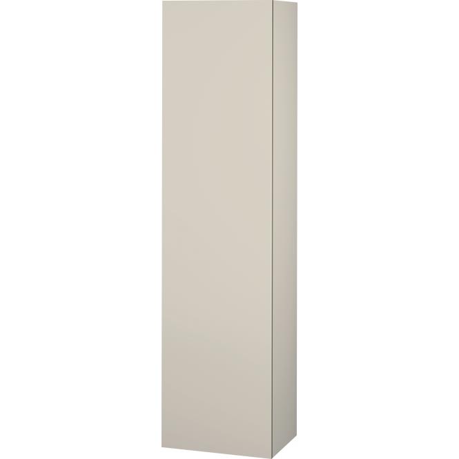 Duravit L-Cube - Halbhochschrank 500 x 2000 x 363 mm mit 1 Tür, 1 Holzfachboden, 3 Glasfachböden & Anschlag links taupe
