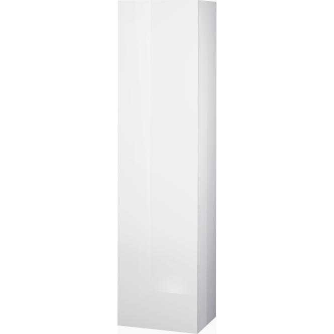 Duravit L-Cube - Halbhochschrank 500 x 2000 x 363 mm mit 1 Tür, 1 Holzfachboden, 3 Glasfachböden & Anschlag rechts weiß hochglanz
