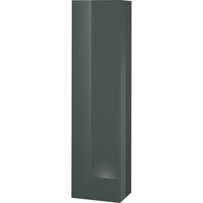 Duravit L-Cube - Halbhochschrank 500 x 2000 x 363 mm mit 1 Tür, 1 Holzfachboden, 3 Glasfachböden & Anschlag rechts dolomiti grey hochglanz