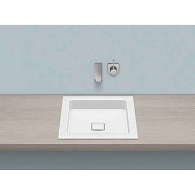 Alape EB.Q450 - Einbaubecken quadratisch 450 x 450 mm weiß