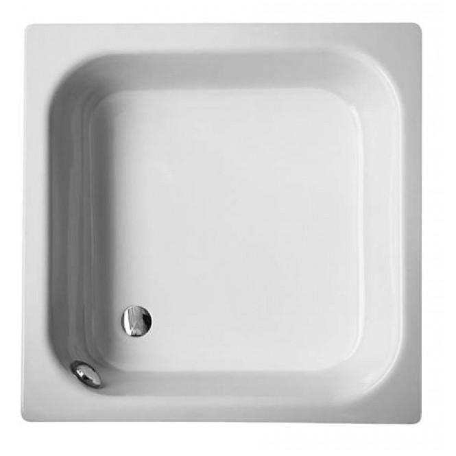 BETTE BetteTief 28 mit Überlauf - Duschwanne viertelkreisförmig 800x750 star white mit Antislip
