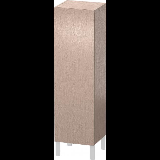 Duravit L-Cube - Halbhochschrank 500 x 1320 x 363 mm mit 1 Tür, 1 Holzfachboden, 2 Glasfachböden & Anschlag rechts eiche cashmere