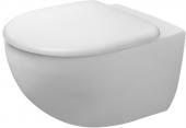 Duravit Architec - Wand-Tiefspül-WC 575 mm rimless inklusive Durafix weiß mit WC-Sitz