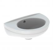 Geberit Fidelio - Handwaschbecken 370 x 250 mm ohne Hahnloch mit Überlauf weiß