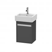 Duravit Ketho - Waschtischunterbau 400 x 550 x 320 mm mit 1 Tür & Anschlag rechts graphit matt