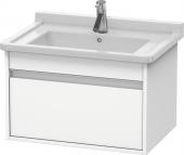 Duravit Ketho - Waschtischunterbau 650 x 410 x 465 mm mit 1 Auszug weiß matt