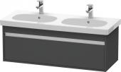 Duravit Ketho - Waschtischunterbau 1150 x 410 x 455 mm mit 1 Auszug graphit matt