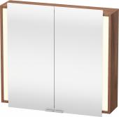 Duravit Ketho - Spiegelschrank 800 x 750 x 180 mm mit 2 Spiegeltüren & 2 Glasfachböden verspiegelt