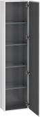 Duravit L-Cube - Hochschrank 400 x 1760 x 243 mm mit 1 Tür & 4 Glasfachböden & Anschlag rechts weiß hochglanz