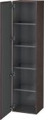 Duravit L-Cube - Hochschrank 400 x 1760 x 363 mm mit 1 Tür & 4 Glasfachböden & Anschlag links eiche dunkel gebürstet