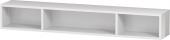 Duravit L-Cube - Regalelement horizontal 800 x 120 x 140 mm mit 3 Fächern weiß hochglanz