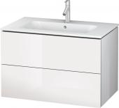 Duravit L-Cube - Waschtischunterbau 820 x 550 x 481 mm mit 2 Auszügen weiß hochglanz