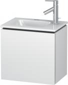 Duravit L-Cube - Waschtischunterbau 420 x 400 x 294 mm mit 1 Tür & Anschlag links weiß matt
