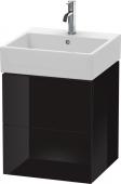 Duravit L-Cube - Waschtischunterbau 484 x 544 x 459 mm mit 2 Auszügen schwarz hochglanz