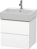 Duravit L-Cube - Waschtischunterbau 584 x 544 x 459 mm mit 2 Auszügen weiß matt