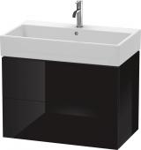 Duravit L-Cube - Waschtischunterbau 784 x 544 x 459 mm mit 2 Auszügen schwarz hochglanz