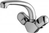 Ideal Standard Alpha - 2-Griff-Waschtischarmatur XS-Size mit Zugstangen-Ablaufgarnitur chrom