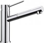 Blanco Alta-S Compact - Küchenarmatur metallische Oberfläche Niederdruck chrom