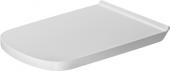 Duravit DuraStyle - WC-Sitz Vital ohne SoftClose weiß mit Winkelpuffern und Scharnieren Edelstahl