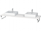Duravit L-Cube - Konsole für Aufsatzbecken und Einbauwaschtische lack hochglanz weiß