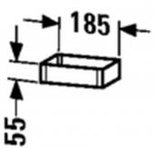 Duravit - Box 100 x 55 x 185 mm ahorn