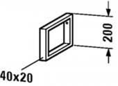 Duravit - Konsolenträger Compact 455 x 40 x 200 mm chrom