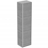 Ideal Standard Connect Air - Hochschrank 1 Tür 1600 x 300 x 400 mm eiche grau dekor / weiß matt