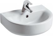 Ideal Standard Connect - Handwaschbecken 450x360mm mit 1 Hahnloch mit Überlauf weiß mit IdealPlus